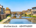 ponte vecchio  old bridge  over ... | Shutterstock . vector #684996889