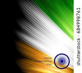 indian independence day concept ... | Shutterstock .eps vector #684998761