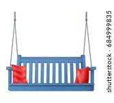summer outdoor wooden blue... | Shutterstock .eps vector #684999835