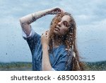 dance in the rain.indian style... | Shutterstock . vector #685003315
