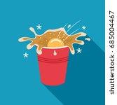 beer pong illustration of a... | Shutterstock .eps vector #685004467