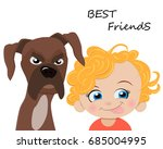 happy friendship day greeting... | Shutterstock .eps vector #685004995