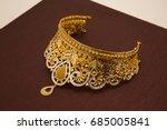 ethnic indian style  cut stones ... | Shutterstock . vector #685005841