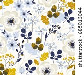 seamless autumn pattern with... | Shutterstock .eps vector #685013044