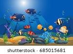 vector illustration of the sea. ... | Shutterstock .eps vector #685015681