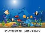 vector illustration of the sea. ... | Shutterstock .eps vector #685015699