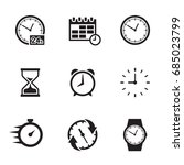 time related icons set | Shutterstock .eps vector #685023799