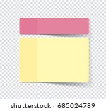 set of sticky stickers with... | Shutterstock .eps vector #685024789