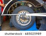 technician work with mechanic... | Shutterstock . vector #685025989