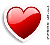 glossy red heart icon | Shutterstock .eps vector #68502616