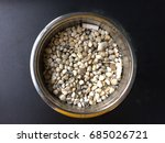 stainless steel ashtray with... | Shutterstock . vector #685026721