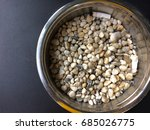 stainless steel ashtray with... | Shutterstock . vector #685026775