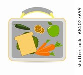 lunchbox with school lunch ... | Shutterstock . vector #685027699