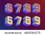 3d vintage numbers with... | Shutterstock .eps vector #685034275