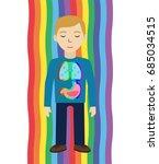 energetic healing. man heal... | Shutterstock .eps vector #685034515