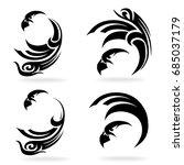 eagle set  on white background  ... | Shutterstock .eps vector #685037179