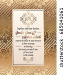 vintage baroque style wedding... | Shutterstock .eps vector #685041061