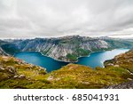 panoramic aerial wide angle... | Shutterstock . vector #685041931