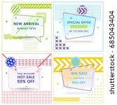 set of trendy abstract...   Shutterstock .eps vector #685043404