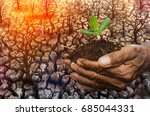 global warming  climate change  ... | Shutterstock . vector #685044331