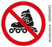 prohibiting icons roller | Shutterstock .eps vector #685046851