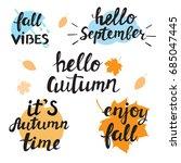 autumn calligraphy lettering | Shutterstock .eps vector #685047445