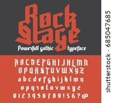fresh new powerfull gothic... | Shutterstock .eps vector #685047685