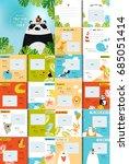 vector photo book with cartoon... | Shutterstock .eps vector #685051414