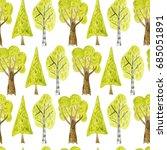watercolor seamless pattern...   Shutterstock . vector #685051891