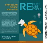 stop ocean plastic pollution... | Shutterstock .eps vector #685053391