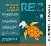 stop ocean plastic pollution... | Shutterstock .eps vector #685053391