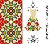 vector fashion illustration.... | Shutterstock .eps vector #685061551