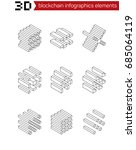 isometric graphic elements for... | Shutterstock .eps vector #685064119