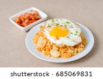 kimchi fried rice with fried... | Shutterstock . vector #685069831