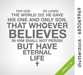 christian heart with bible verse | Shutterstock .eps vector #685069969