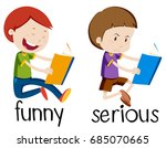 opposite wordcard for funny and ... | Shutterstock .eps vector #685070665