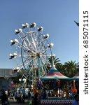 Small photo of SACRAMENTO, CALIFORNIA, USA - JUL 24, 2017: State fair at Cal Expo. Amusement park area .