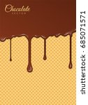 realistic liquid chocolate with ... | Shutterstock .eps vector #685071571
