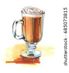 glass with latte | Shutterstock . vector #685073815
