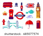london icons set. england. thin ... | Shutterstock .eps vector #685077574