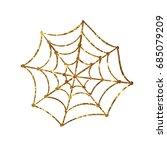 golden glitter silhouette... | Shutterstock .eps vector #685079209