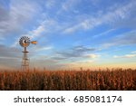 texas style westernmill... | Shutterstock . vector #685081174