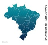 map of brazil. | Shutterstock .eps vector #685089991