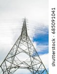 high voltage power pole with... | Shutterstock . vector #685091041