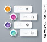 business infographics template... | Shutterstock .eps vector #685092871