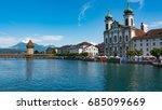 lucerne  switzerland   july 04  ...   Shutterstock . vector #685099669