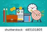 vector concept of personal... | Shutterstock .eps vector #685101805