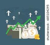vector growth concept in flat... | Shutterstock .eps vector #685104295