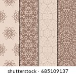 set of modern geometric pattern.... | Shutterstock .eps vector #685109137