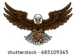 an eagle angry animal sports... | Shutterstock .eps vector #685109365